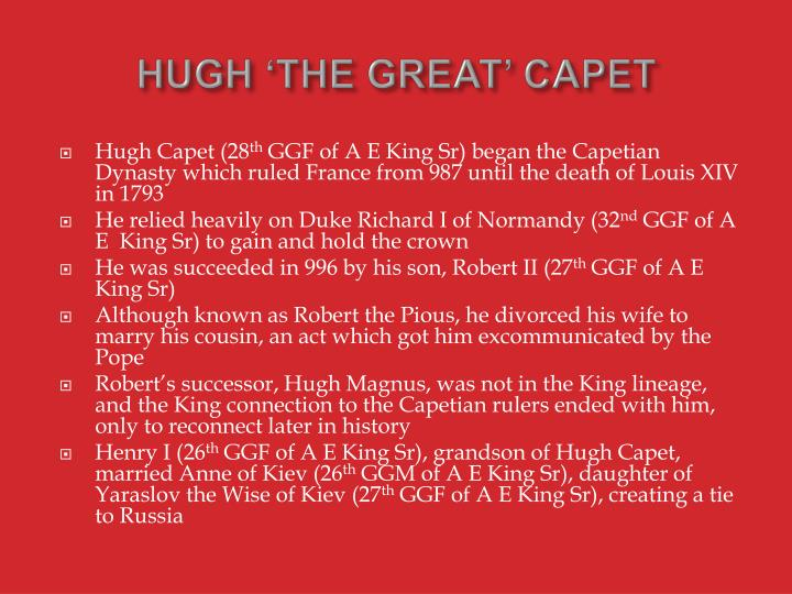 HUGH 'THE GREAT' CAPET
