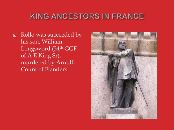 King ancestors in france1