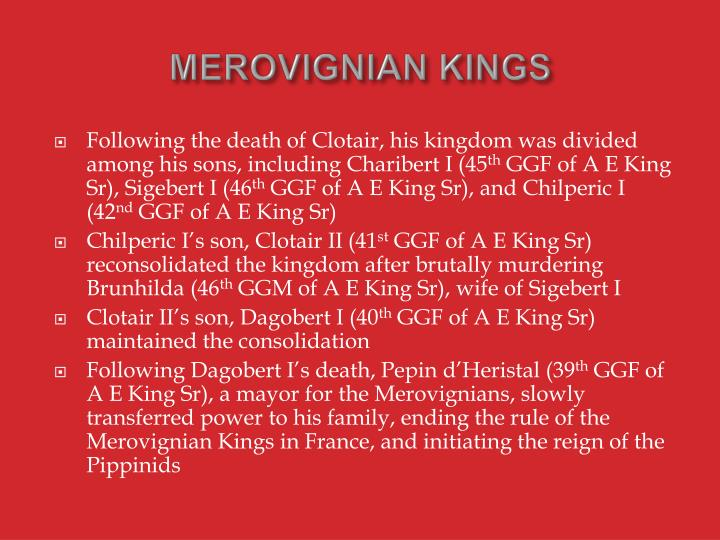 MEROVIGNIAN KINGS