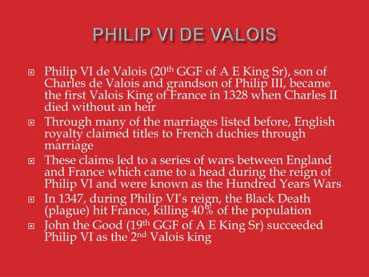 PHILIP VI DE VALOIS