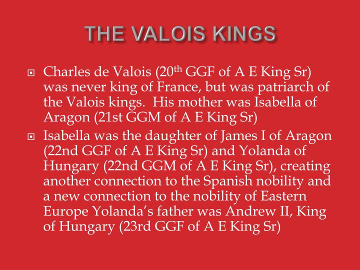 THE VALOIS KINGS