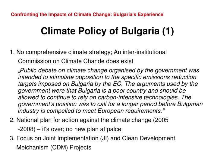 Confronting the impacts of climate change bulgaria s experience3