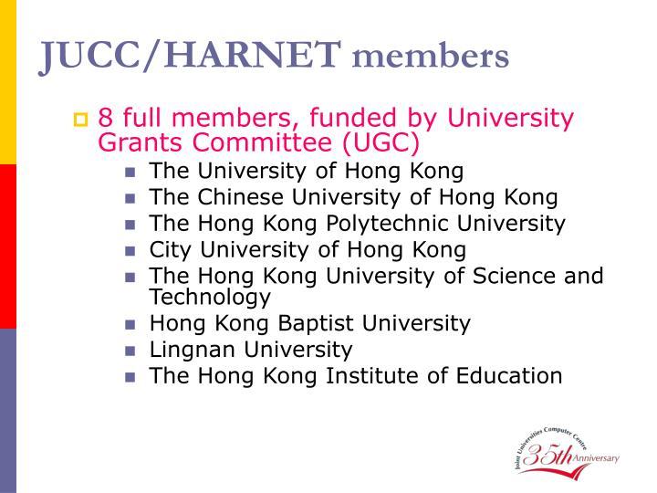 JUCC/HARNET members