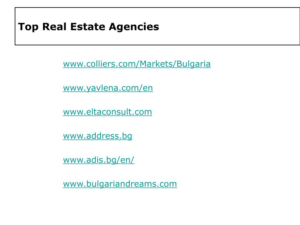 Top Real Estate Agencies