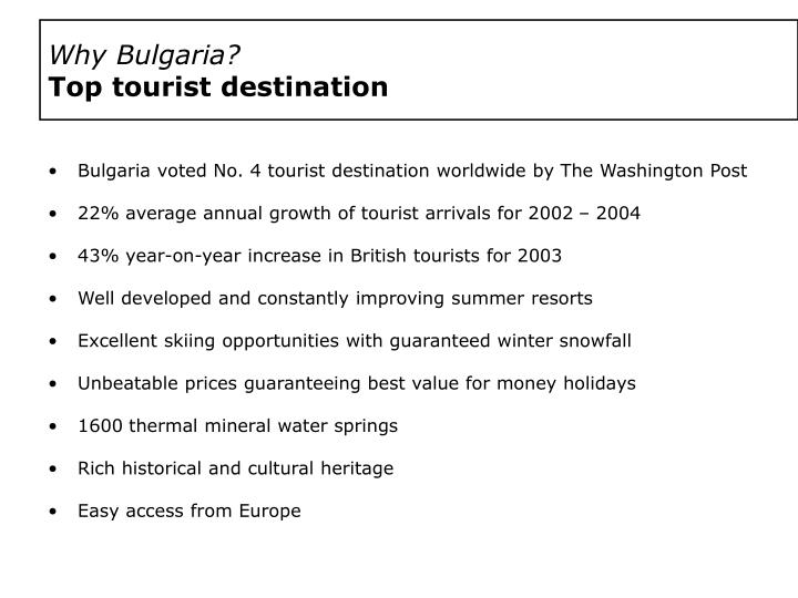 Why bulgaria top tourist destination