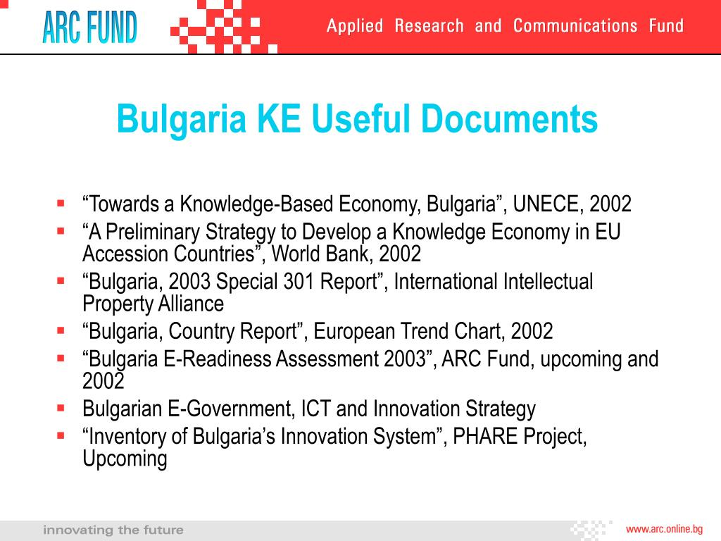 Bulgaria KE Useful Documents