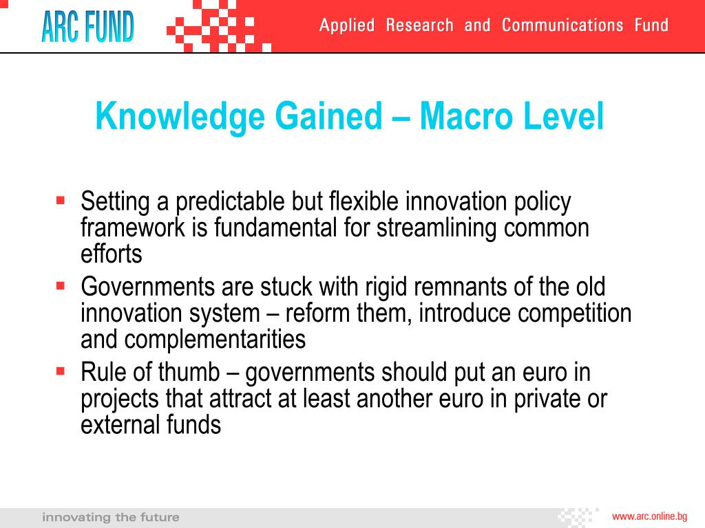 Knowledge Gained – Macro Level