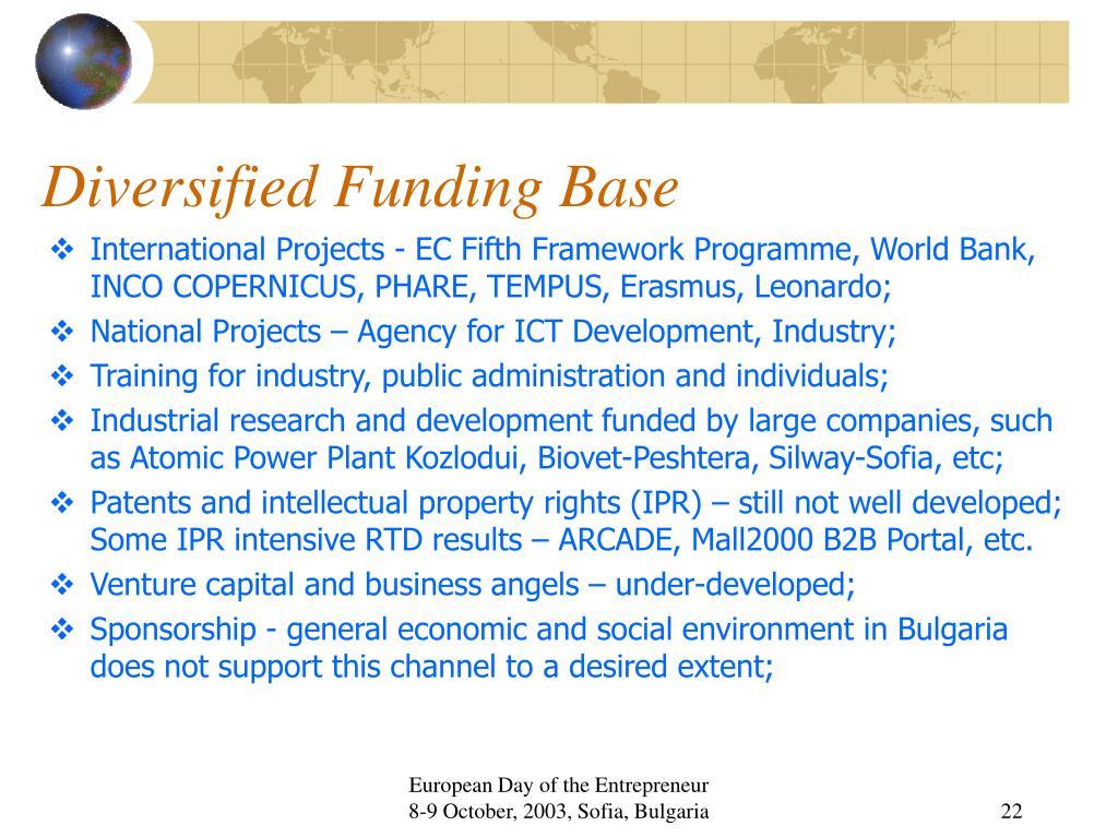 Diversified Funding Base