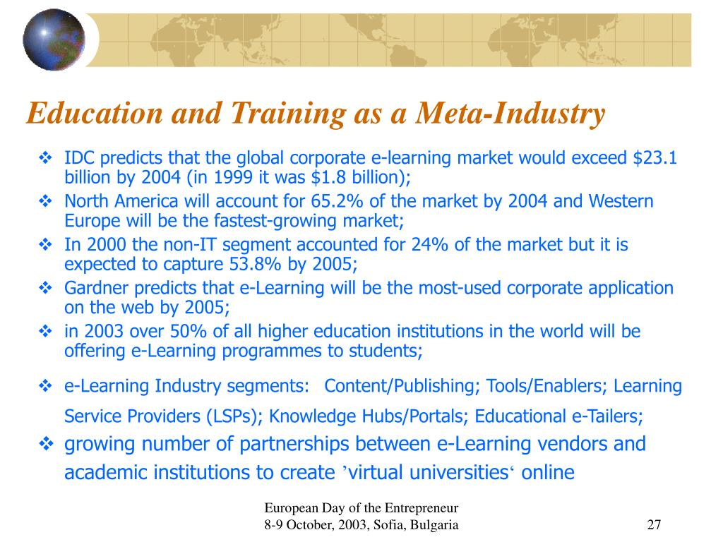 Education and Training as a Meta-Industry