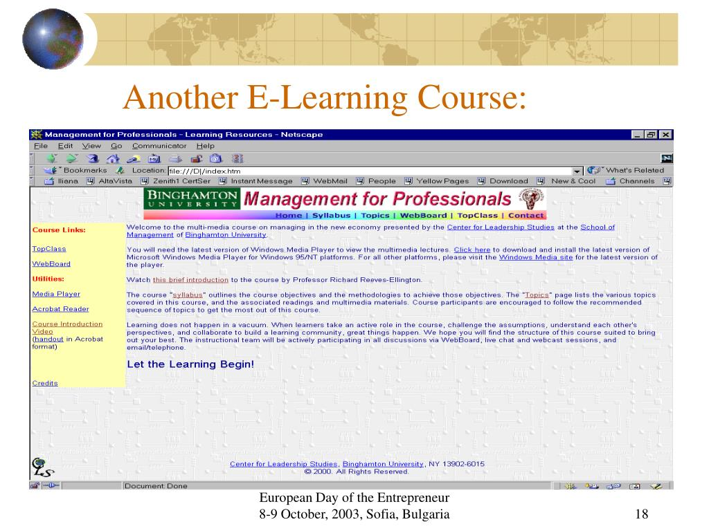 Another E-Learning Course: