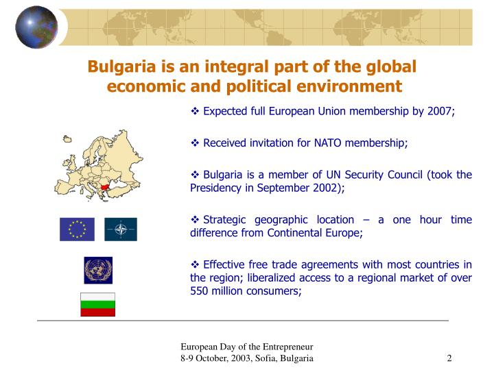 Bulgaria is an integral part of the global