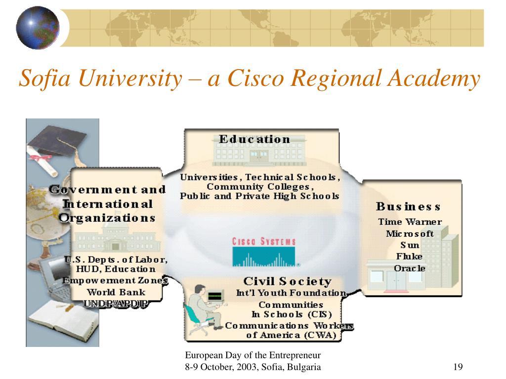 Sofia University – a Cisco Regional Academy