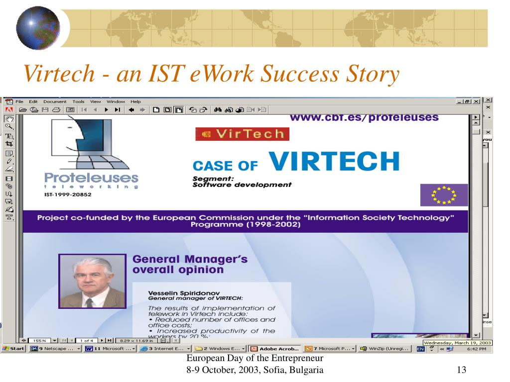 Virtech - an IST eWork Success Story