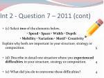int 2 question 7 2011 cont