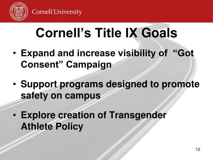 Cornell's Title IX