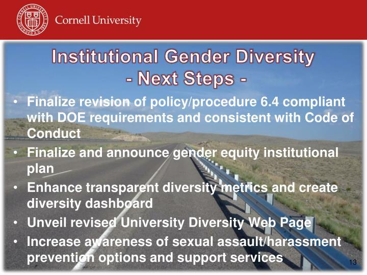Institutional Gender Diversity