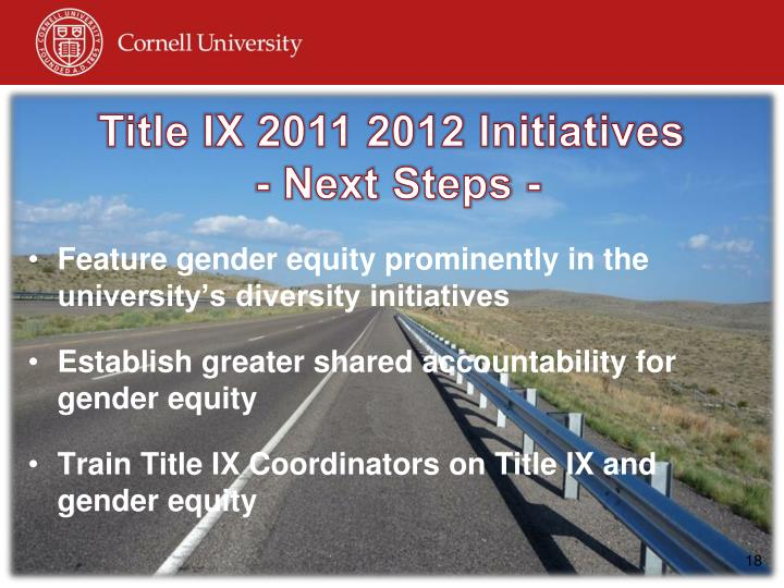 Title IX 2011 2012 Initiatives