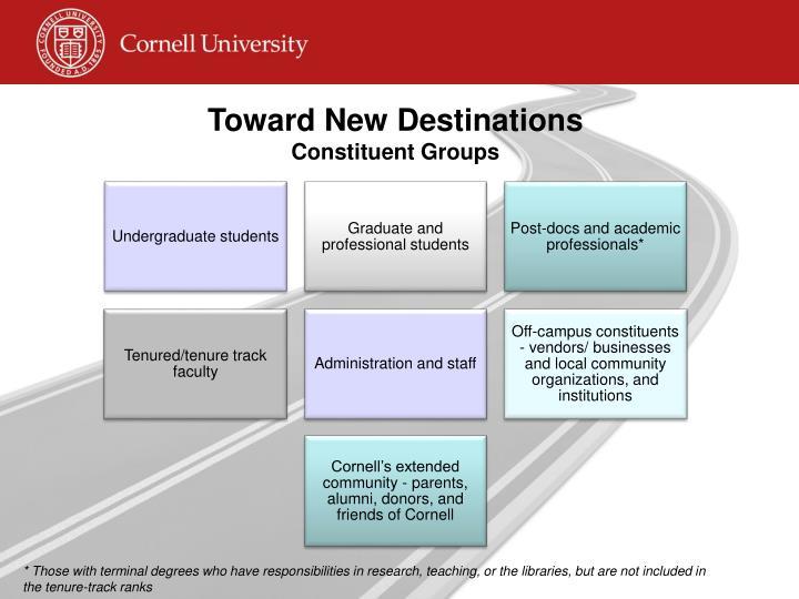 Toward New Destinations
