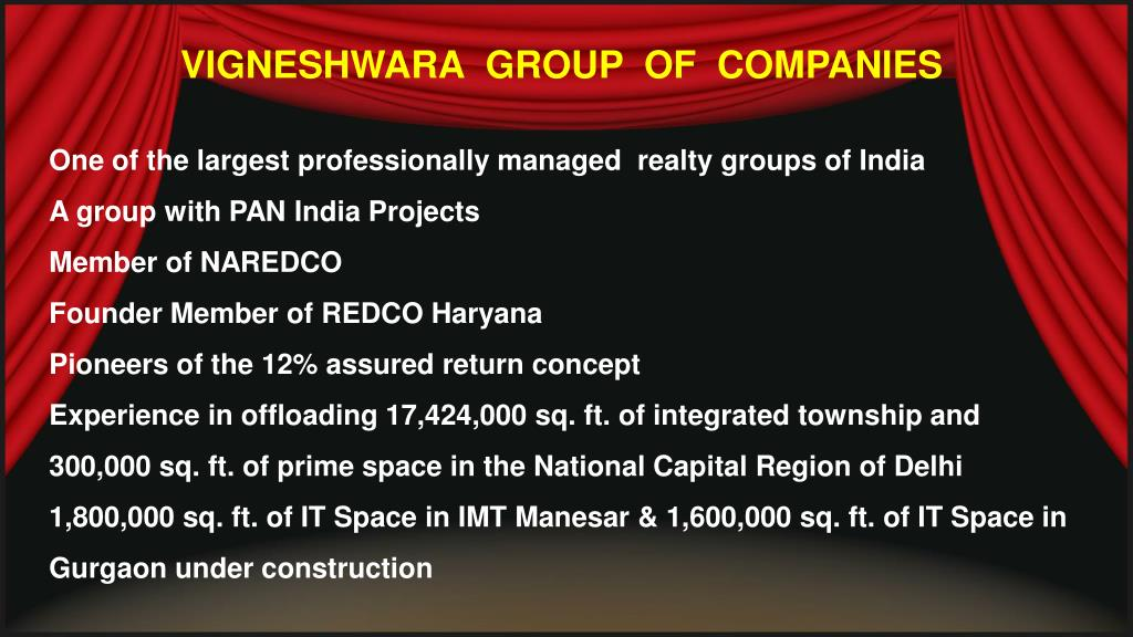 VIGNESHWARA  GROUP  OF  COMPANIES