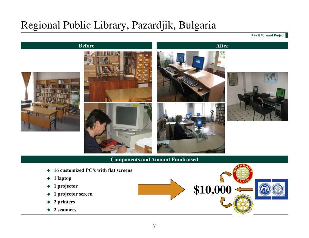 Regional Public Library, Pazardjik, Bulgaria