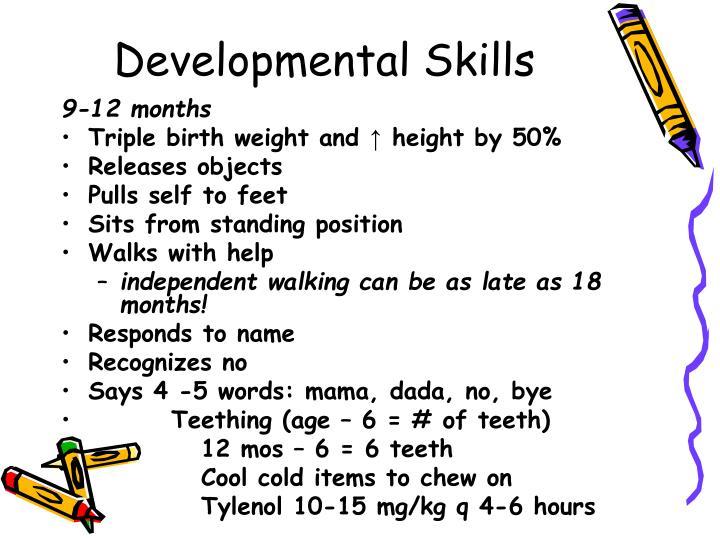 Developmental Skills