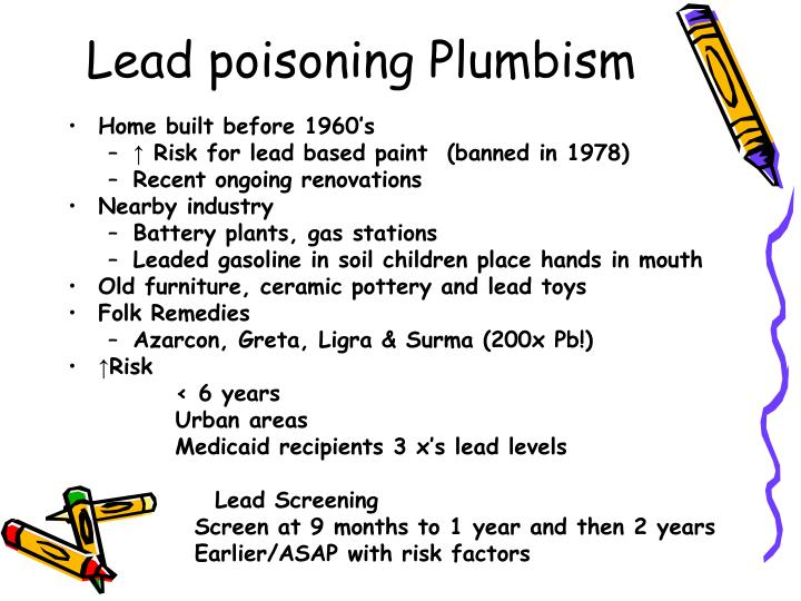 Lead poisoning Plumbism