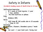 safety in infants