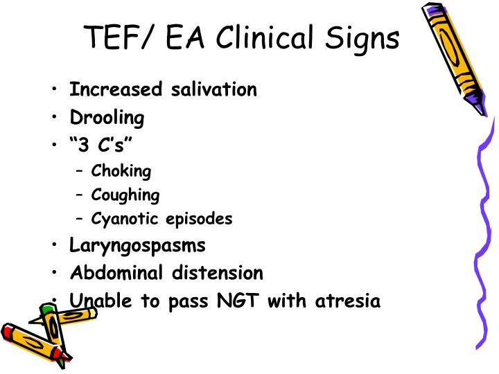 TEF/ EA Clinical Signs