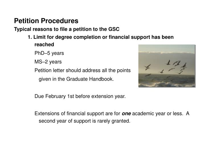 Petition Procedures