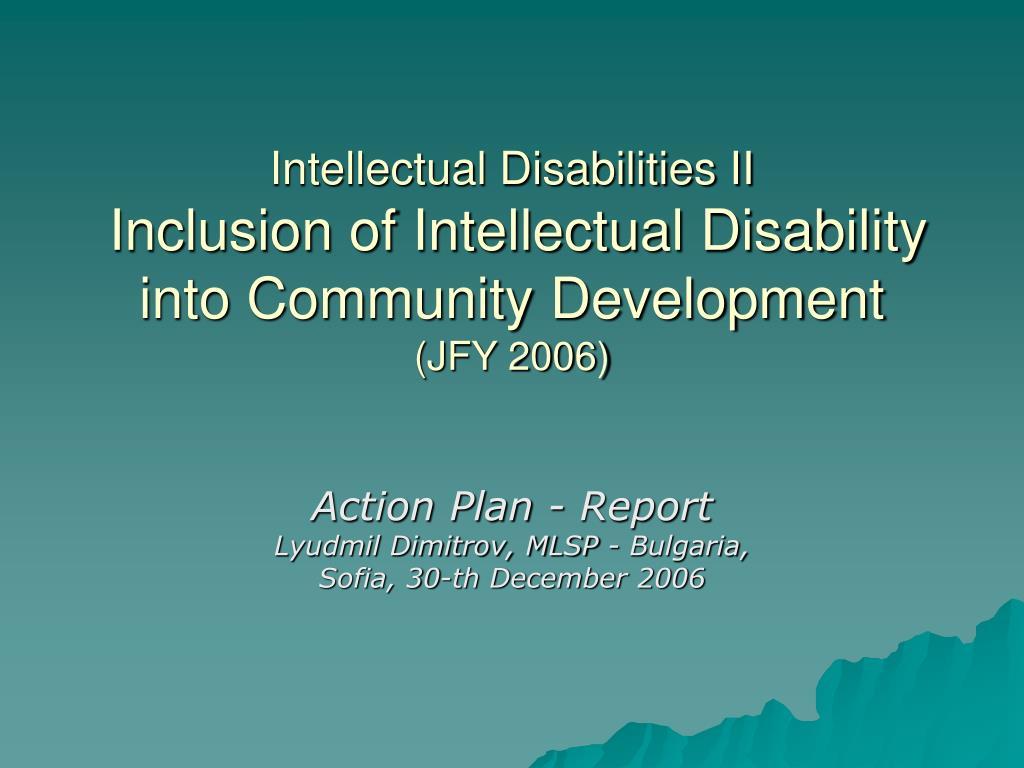 Intellectual Disabilities II