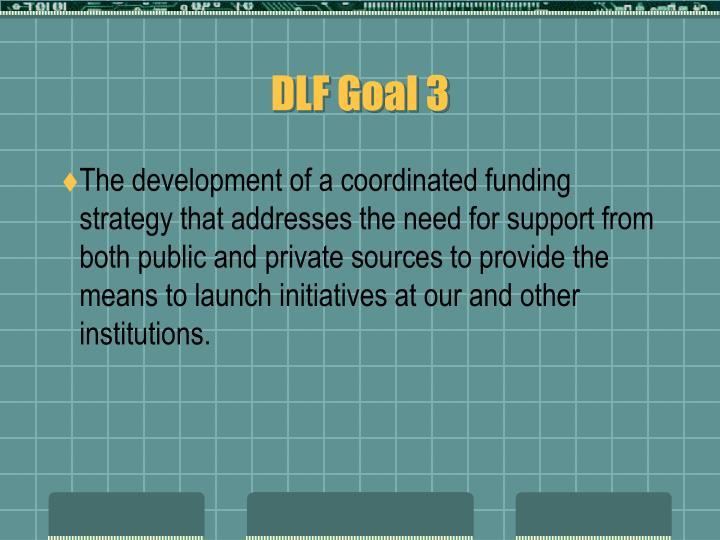 DLF Goal 3