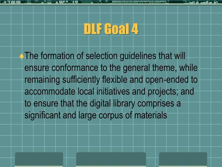 DLF Goal 4