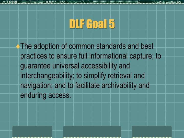 DLF Goal 5