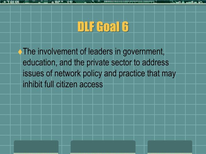 DLF Goal 6