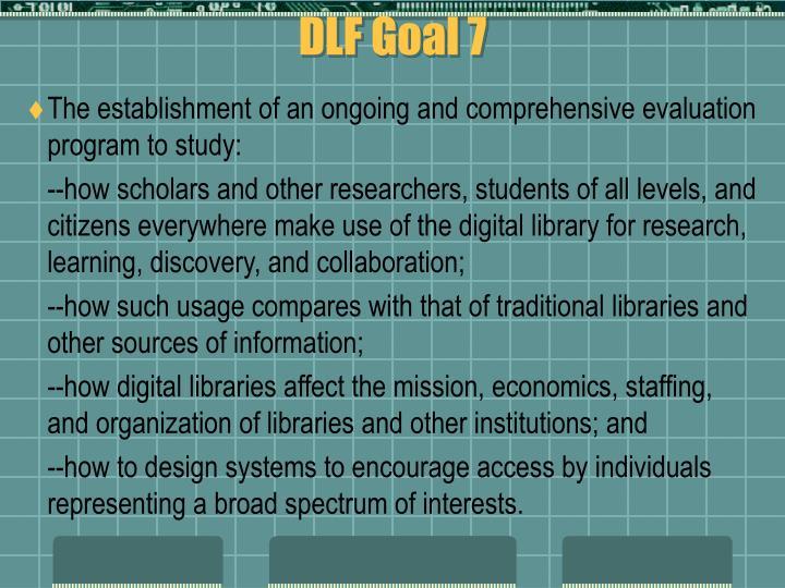 DLF Goal 7