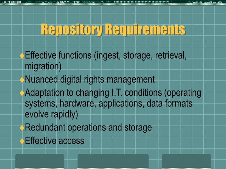 Repository Requirements