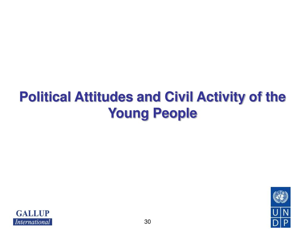 Political Attitudes and Civil Activity