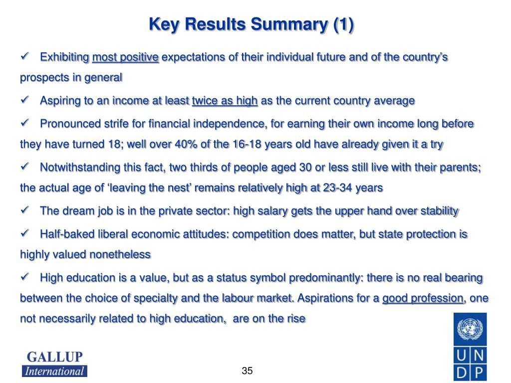 Key Results Summary (1)