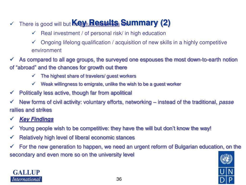 Key Results Summary (2)