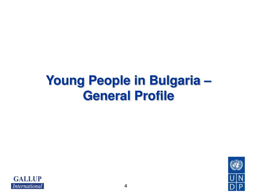 Young People in Bulgaria –