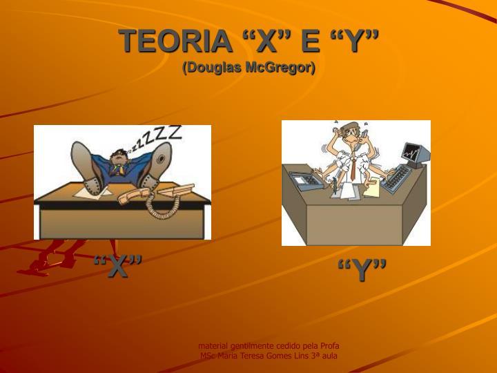 """TEORIA """"X"""" E """"Y"""""""