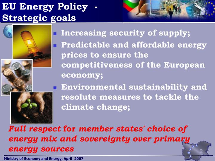 Eu energy policy strategic goals l.jpg