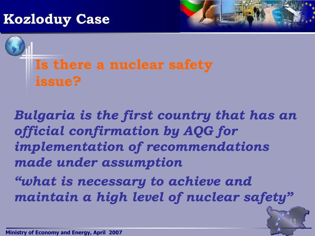 Kozloduy Case