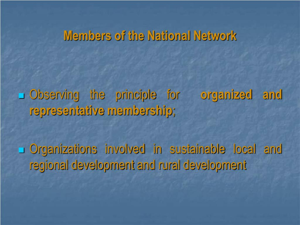 Members of the National Network
