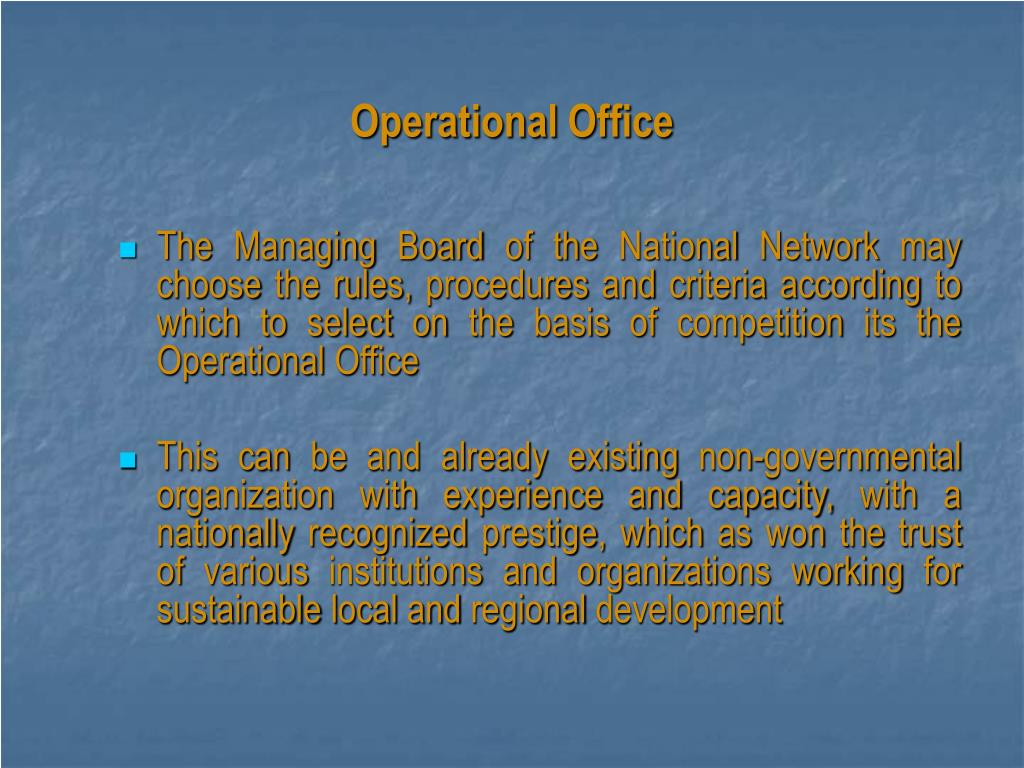 Operational Office
