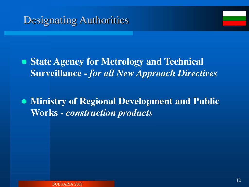 Designating Authorities