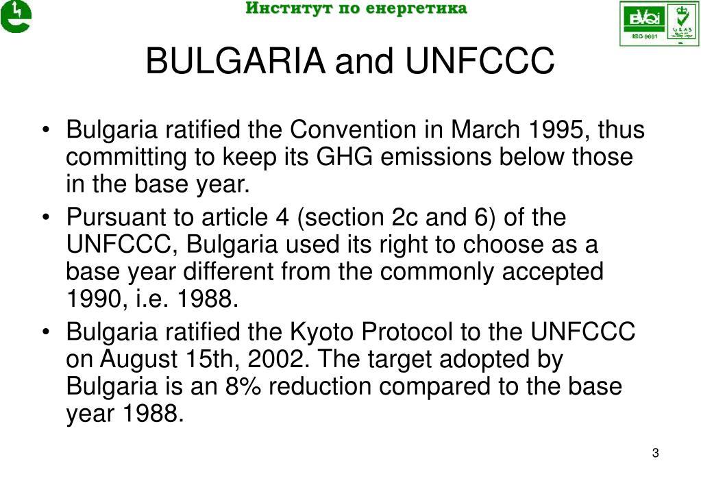 BULGARIA and UNFCCC