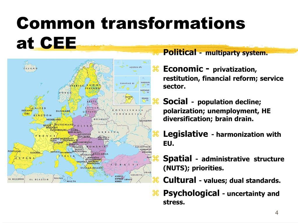 Common transformations at CEE