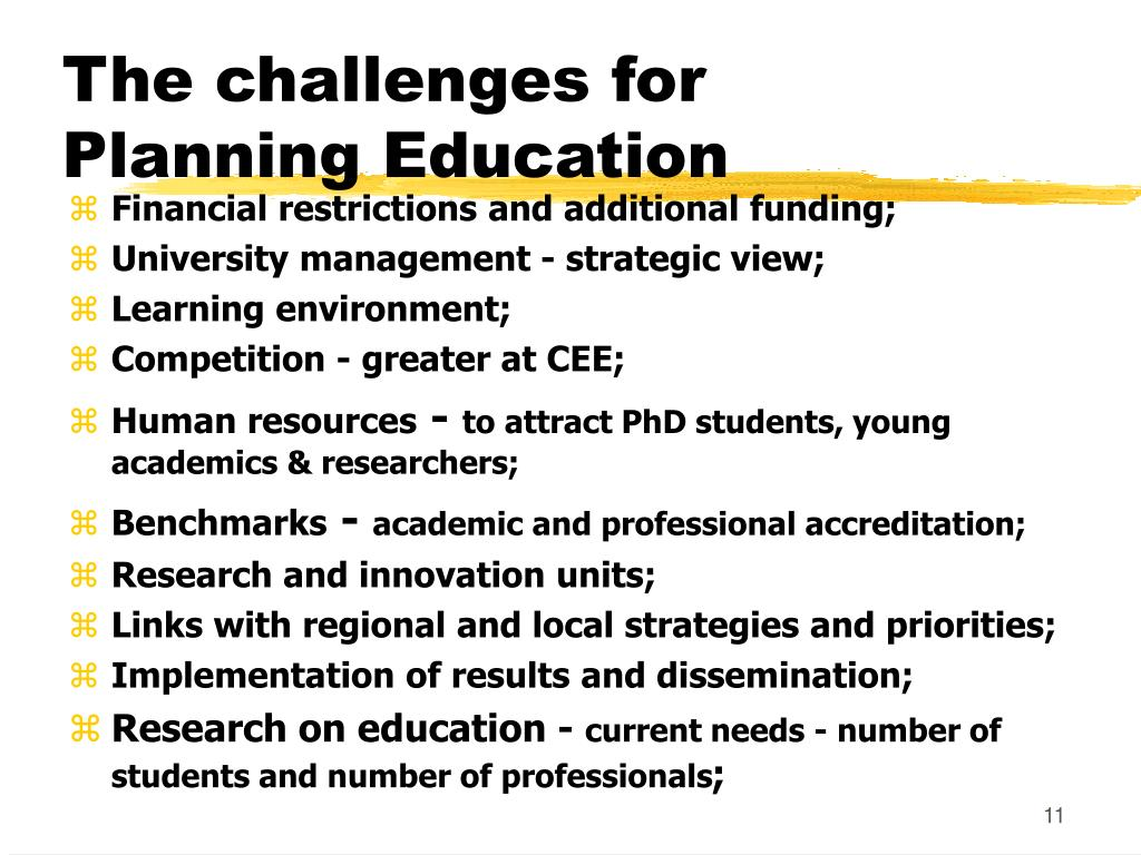 The challenges for Planning Education