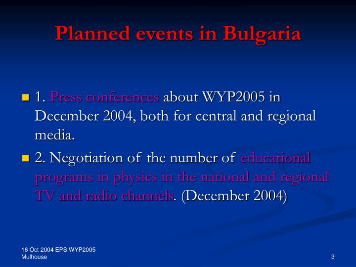 Planned events in bulgaria l.jpg